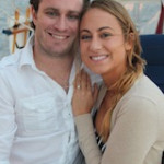 Sunset sail engagement