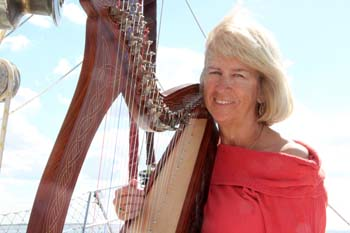 Lady Kathryn, harpist of Sailing Vessel Lionheart