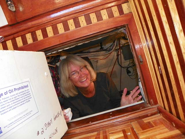 Kathy in Engine Rm