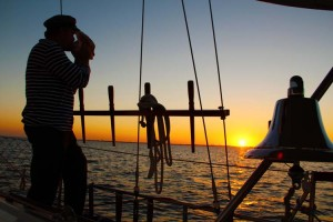 Sunset sailing Tampa Bay