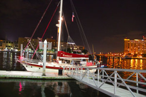 Tampa Dockside following Sunset Cruise